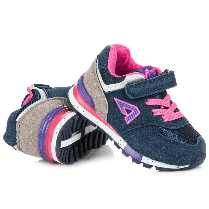 Modré detské botasky pre dievčatá 15c1edca666