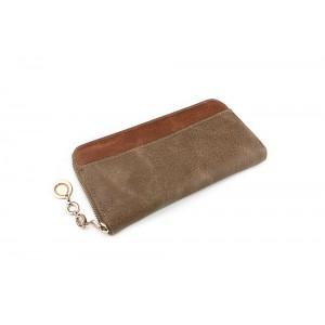Svetlo hnedá dámska peňaženka s veľkými priehradkami