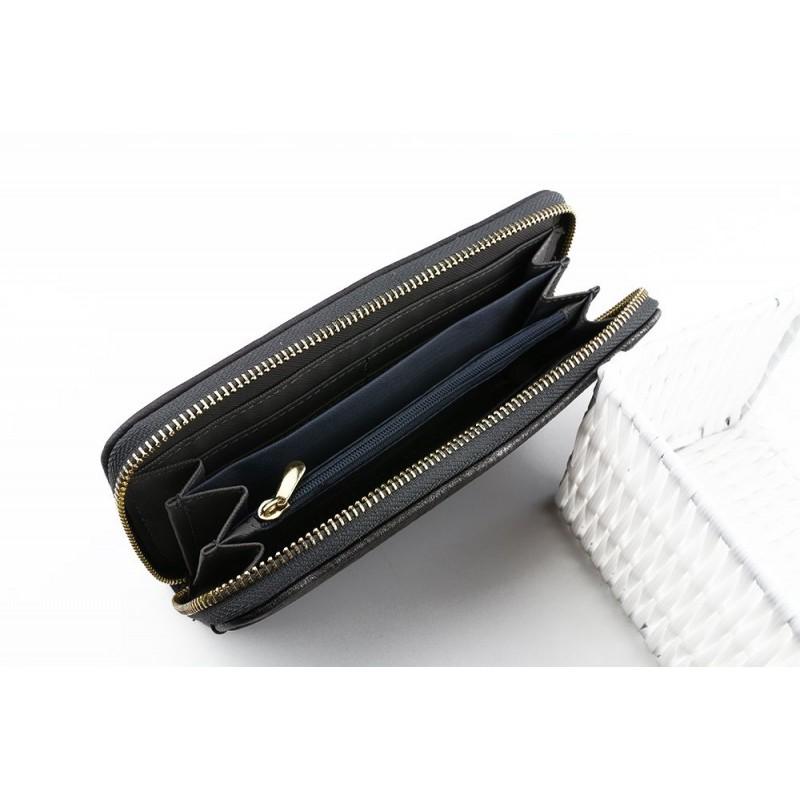 25bc40bd28 Tmavosivá veľká dámska peňaženka na bankovky a mince