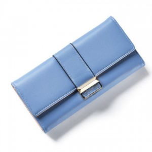 Modrá veľká peňaženka pre ženy