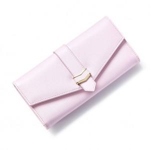 e5b09092f3 Púdrovo ružová dámska peňaženka so zlatými detailami