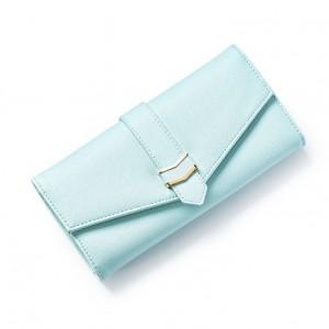 Veľká mentolová peňaženka s ozdobným pásom