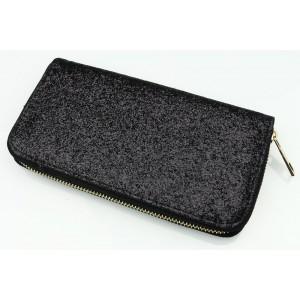 Dámska peňaženka s čiernym flitrom