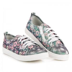 Farebná detská obuv pre dievčatá na šnurovanie