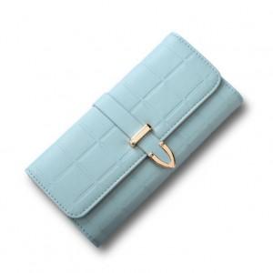 Svetlomodrá dámska veľká peňaženka