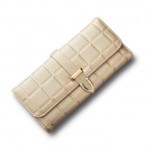 Štýlová zlatá dámska peňaženka veľká