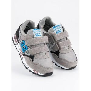 Detská športová obuv sivej farby pre chlapcov