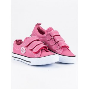 Detské tramky ružovej farby na suchý zips