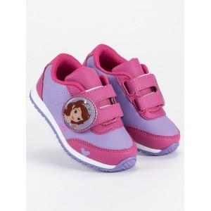 Detská obuv s rozprávkovým motívom fialovej farby