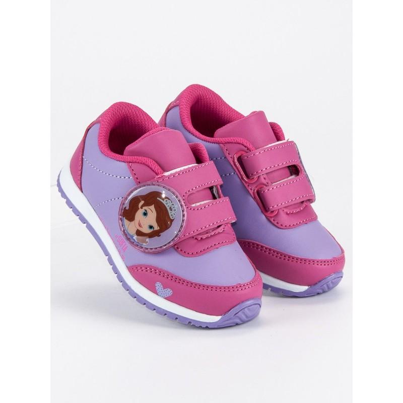 27ad36a5732f Detská obuv s rozprávkovým motívom fialovej farby