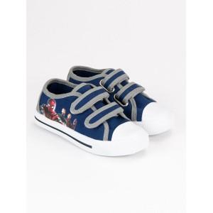 Detské topánočky s rozprávkovým motívom modrej farby