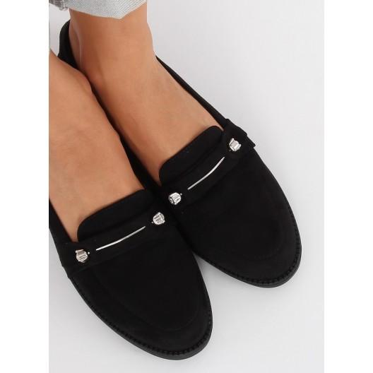 Čierne moderné mokasíny pre dámy