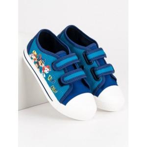 Plátené detské topánky modrej farby Paw patrol
