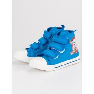 Detské členkové topánky modrej farby na suchý zips