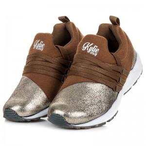 Hnedá nazúvacia obuv so šnúrkami pre deti