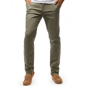 Khaki pánske chino nohavice