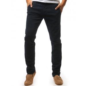Chino tmavomodré pohodlné nohavice pánske