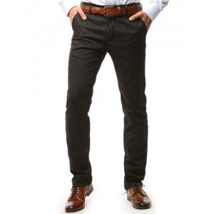 Pánske elegantné nohavice tmavo sivej farby