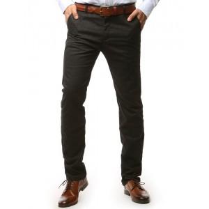 Pánske nohavice tmavo sivej farby