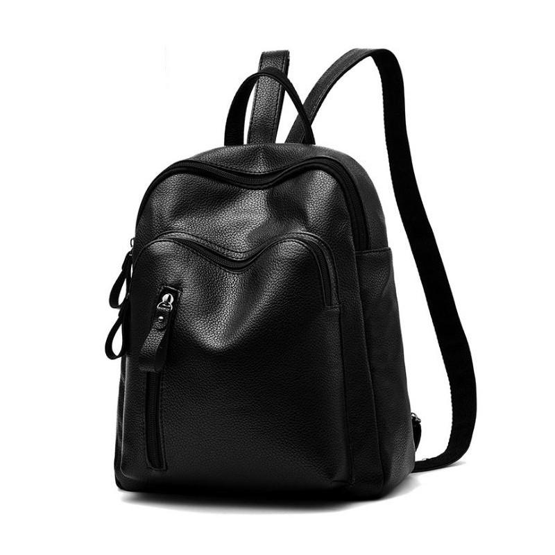 0401a456c0 Dámský čierny batoh z eko kože