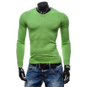 Moderné pánske svetre zelenej farby