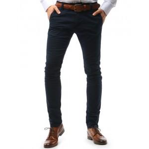 Elegantné pánske chino nohavice tmavomodrej farby