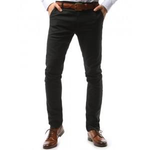 Čierne pánske nohavice chino