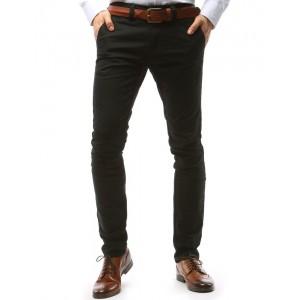 Čierne elegantné pánske nohavice v strihu chino