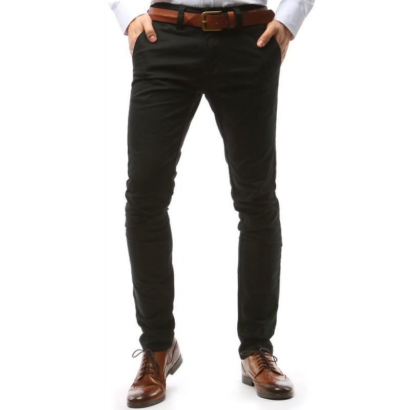 eec97c0e5 Čierne elegantné pánske nohavice v strihu chino