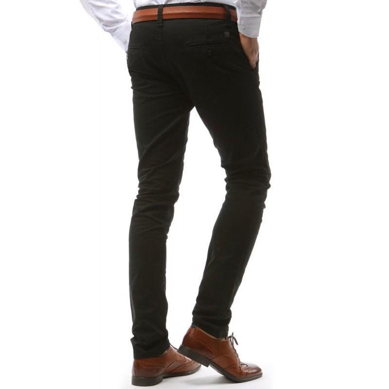 4fffe197ef97 Čierne elegantné pánske nohavice v strihu chino