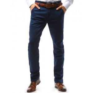 Chino tmavomodré pánské nohavice elegantné