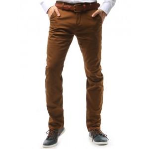 Pánske chino nohavice v medenej farbe
