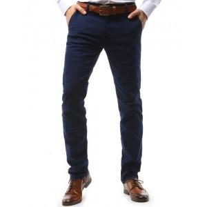 Pánske elegantné chino nohavice v tmavomodrej farbe