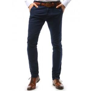 Pánske nohavice elegantné vo výraznej tmavomodrej farbe