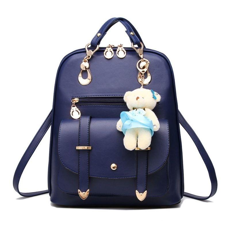 afa1a07cb0 Modrý dámsky mini batoh s mackom