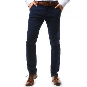 Pánske nohavice elegantné chino v tmavomodrej farbe