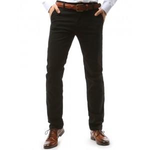 Pánske čierne nohavice elegantné v chino strihu