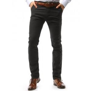 Pohodlné pánske sivé nohavice s vreckami