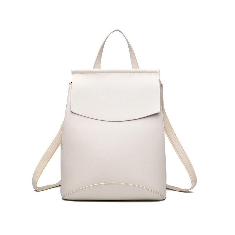 bc5a553f31 Jednoduchý elegantný dámsky ruksak biely