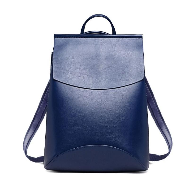 a60fefab14 Modrý dámsky batoh v jednoduchom štýle