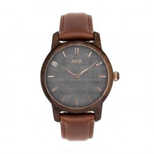 Náramkové drevené dámske hodinky v sivej farbe