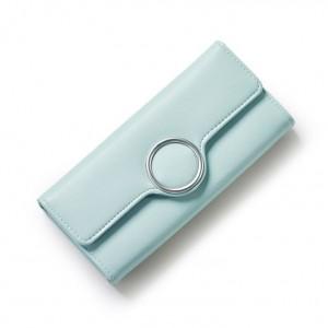 Mentolová dámska peňaženka s prackou v tvare kruhu