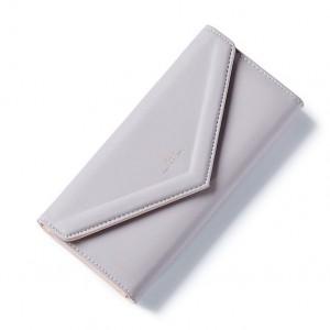 Sivá veľká štýlová peňaženka