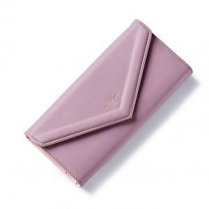 Fialová dámska elegantná peňaženka