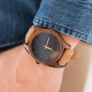 Moderné drevené náramkové hodinky pre pánov