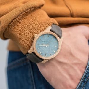 Kvalitné drevené hodinky pre moderného muža