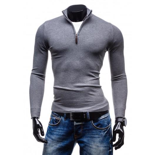 Pánske svetre, ktoré dodajú smer vášmu štýlu sivej farby so zipsom
