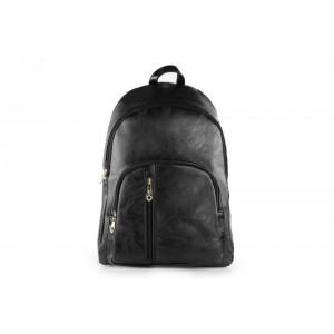 Čierny ruksak s malým vreckom