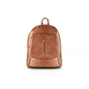 Koženkový ruksak hnedej farby dámsky