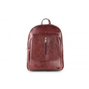Trendy ruksak bordovej farby dámsky